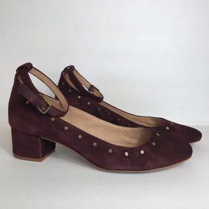 Madewell Inez Stud Suede Ankle Strap Heels